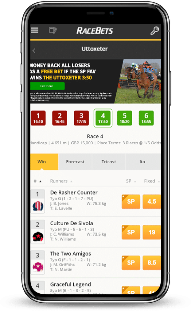 Racebets App Android